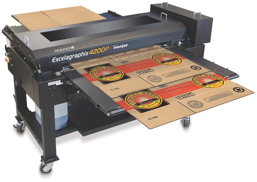 Xanté Excelagraphix 4200, impresión de cajas de cartón bajo demanda